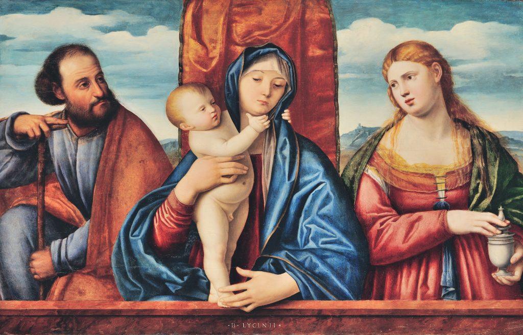 Bernardino Licinio, Sacra Famiglia, olio su tavola