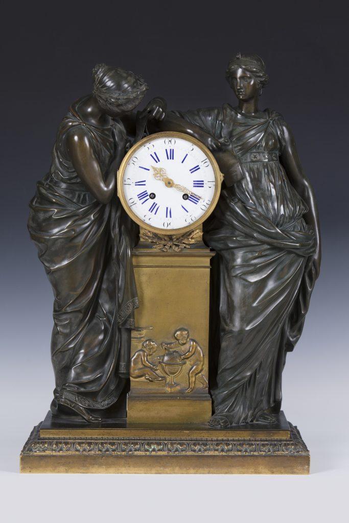 Orologio da tavolo in bronzo, Francia, XIX secolo - Antichità Giglio
